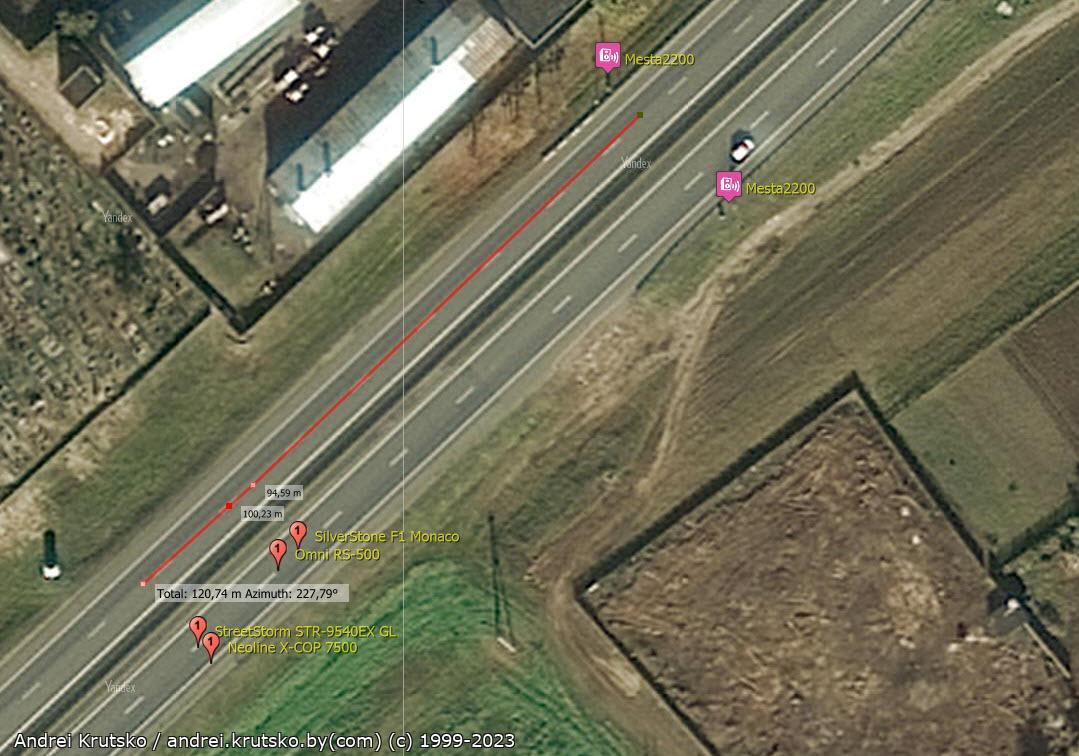 mesta2200 results1 - Тест радар-детектора: Omni RS-500 - Радарная часть